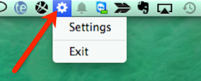 Arrow pointing to the ShipStation connect icon in the MacOS menu bar.