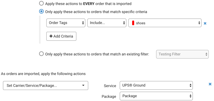 Automation Rules. Tags for Include criteria line